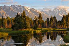 Grand Teton National Park at Sunrise Stock Photo