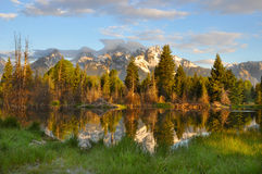 Grand Teton National Park at Sunrise Stock Photos