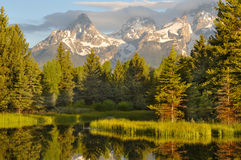 Grand Teton National Park at Sunrise Royalty Free Stock Photo