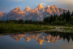 Grand Teton National Park Sunrise Royalty Free Stock Photography