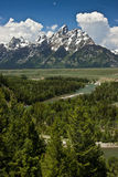 Grand Teton National Park - USA. The Grand Teton mountains guarded by the Snake River form an awe inspiring National Park in Wyoming Royalty Free Stock Photos