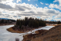 Grand Teton. National Park in winter Royalty Free Stock Photography