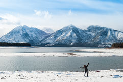 Grand Teton. National Park in winter Royalty Free Stock Photo
