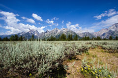 Grand Teton National Park in Wyoming Stock Photo