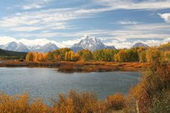 Grand Teton, NP. View of lake at Grand Teton NP Stock Images