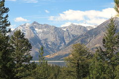 Grand Teton, NP. View of lake at Grand Teton NP Stock Image