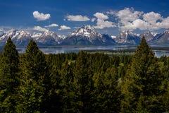 Grand Teton overziet Royalty-vrije Stock Afbeeldingen
