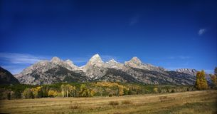 Grand Teton panorama Stock Photography