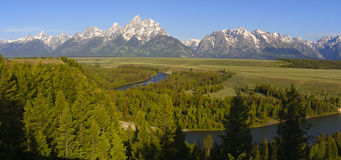 Grand Teton Panorama stock photo