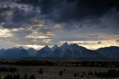 Grand teton ranger at dusk Stock Photos