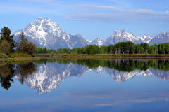 Grand Teton Reflection Stock Photo