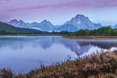 Grand Teton Reflection at Sunrise Royalty Free Stock Photo
