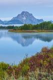 Grand Teton Reflection at Sunrise Stock Images