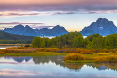 Grand Teton Reflection at Sunrise Stock Photography