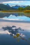 Grand Teton Reflection at Sunrise Royalty Free Stock Images