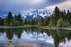 Grand Teton mountain range Stock Image