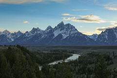 Grand Teton and snake river Stock Photos