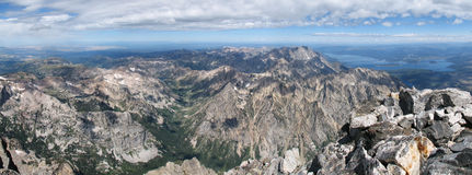 Grand Teton summit panorama Stock Photography