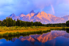 Grand Teton Sunrise Stock Photos