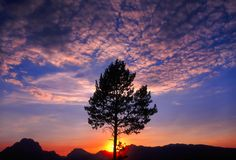 Grand Teton Sunset Royalty Free Stock Photo