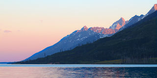 Grand Teton Sunset Stock Photo