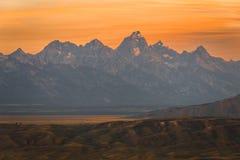Grand Teton Sunset royalty free stock photography