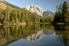 Grand Teton Wilderness Reflective Royalty Free Stock Image