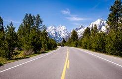 Grand Teton - zet Teton op Stock Foto