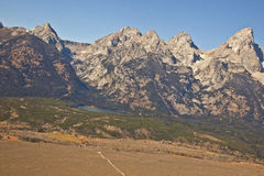 Grand Tetons from the Air Royalty Free Stock Images