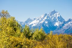Grand Tetons In Autumn royalty free stock images