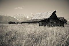 Grand Tetons barn Royalty Free Stock Photos