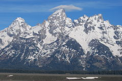 Grand Tetons with a Cap Stock Photography