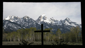 Grand Tetons' Chapel Royalty Free Stock Photos