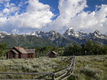 Grand Tetons and Chapel of the Transfiguration Stock Image
