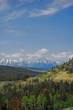 Grand Tetons in distance. Heading west toward Grand Tetons, couldn't pass up this view Stock Image
