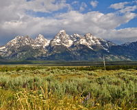 Grand Tetons. Early morning shot of the Grand Tetons in Wyoming Stock Image