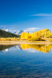 Grand Tetons in Fall Stock Photography