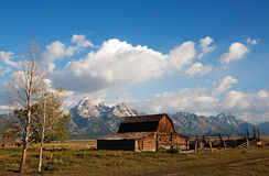 Grand Tetons and House Stock Photography