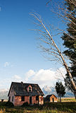Grand Tetons and House Royalty Free Stock Photo