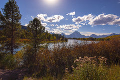 Grand Tetons Lake Royalty Free Stock Photos