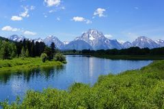 Grand Tetons landscape Royalty Free Stock Photos