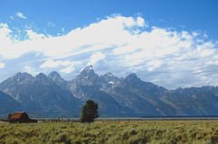Grand Tetons Mormon Row farmhouse Stock Photography