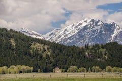 Grand tetons mountain stock photos