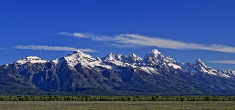 Grand Tetons Mountain Range in Grand Tetons National Park in Wyoming Royalty Free Stock Photo