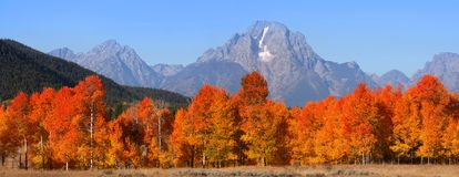 Grand Tetons national mountain range Royalty Free Stock Images