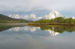 Grand Tetons National Park and reflections on the Snake River Stock Images