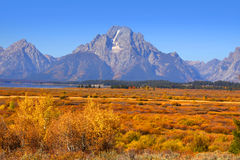 Grand Tetons national park Stock Photos