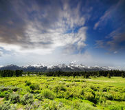 Grand Tetons National Park in Western Wyoming. Royalty Free Stock Photography
