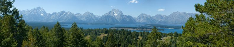 grand tetons odbić parków narodowych Zdjęcie Royalty Free