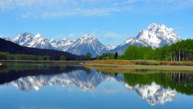 The Grand Tetons from Oxbow Bend royalty free stock photography